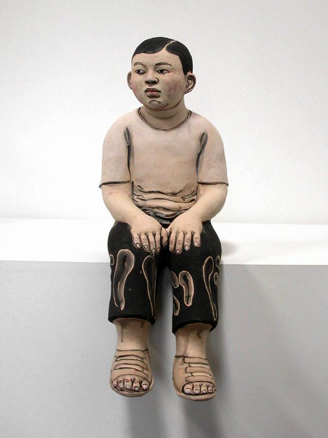 - Akio_Takamori_Seated_Boy_wearing_Sandals_2007_1853_119