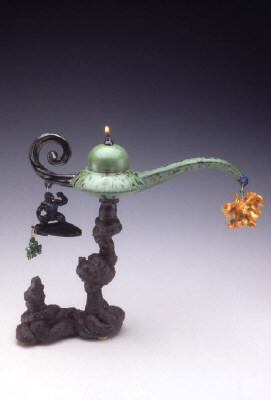 Artist: Adrian Saxe, Title: Hi-Fibre Kowabunga-Big-Wave Magic Lamp, 1997 - click for larger image