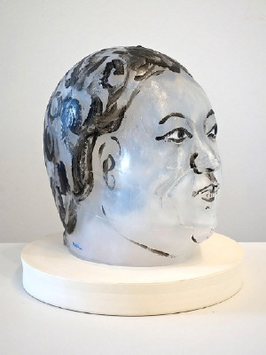 Artist: Akio Takamori, Title: Black and White Woman, 2014 - click for larger image