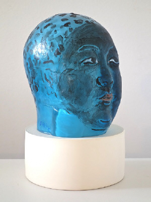 Artist: Akio Takamori, Title: Blue Boy, 2014 - click for larger image