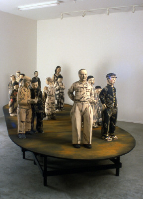 Artist: Akio Takamori, Title: Boat, 2001 Installation View - click for larger image