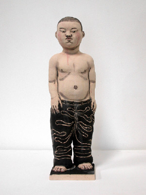 Artist: Akio Takamori, Title: Boy in Black Pants, 2007 - click for larger image
