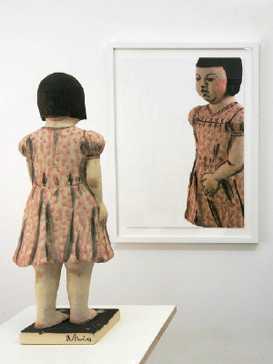 Artist: Akio Takamori, Title: Girl in Pink Dress (view 2), 2007 - click for larger image