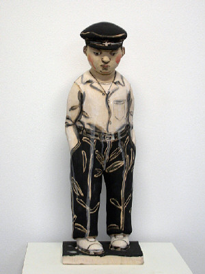 Artist: Akio Takamori, Title: School Boy with Cap (view 1), 2007 - click for larger image