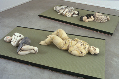 Artist: Akio Takamori, Title: Sleepers, Installation View, 2003 - click for larger image