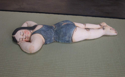 Artist: Akio Takamori, Title: Sleeping Bather, 2004 - click for larger image