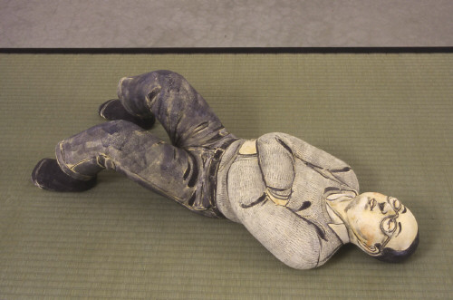 Artist: Akio Takamori, Title: Sleeping Man with Glasses, 2003 - click for larger image