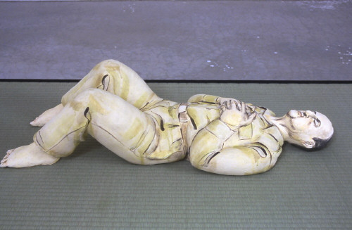 Artist: Akio Takamori, Title: Sleeping Old Soldier, 2003 - click for larger image