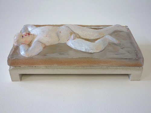Artist: Akio Takamori, Title: White Sleeper Male, 2014 - click for larger image