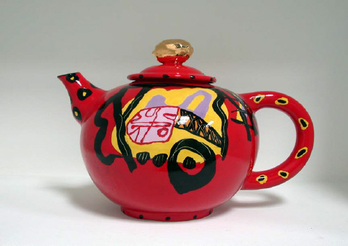 Artist: Anna Silver, Title: Untitled Red Teapot, c. 2002 - click for larger image