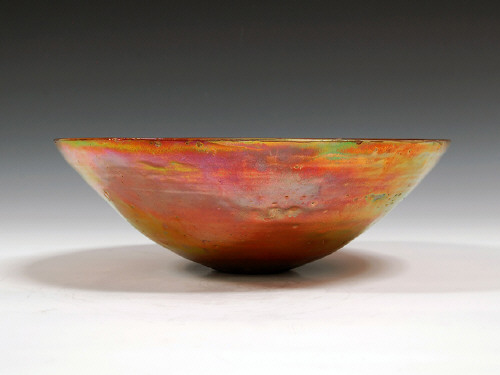 Artist: Beatrice Wood, Title: Gold Lustre Bowl, 1989 - click for larger image