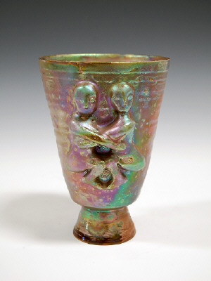 Artist: Beatrice Wood, Title: Lustre Vessel with Four Figures, 1993 - click for larger image
