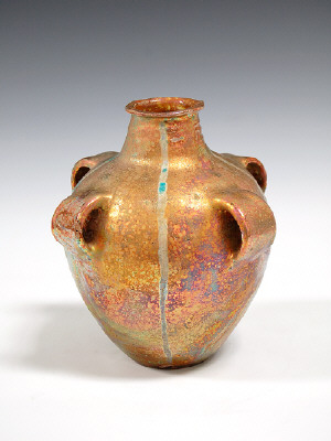 Artist: Beatrice Wood, Title: Lustre Vessel with Four Handles, 1993 - click for larger image