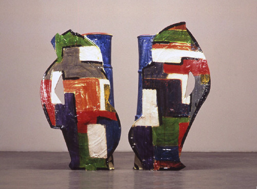 Artist: Betty Woodman, Title: Divided Vases - Christmas (view A), 2004 - click for larger image