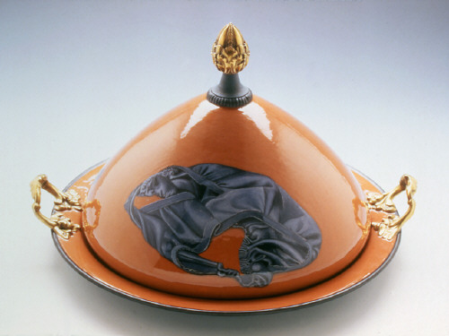 Artist: Cindy Kolodziejski, Title: Covered Tray (Panties and Bra), 1999 (View 1) - click for larger image