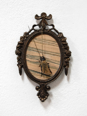 Artist: Cindy Kolodziejski, Title: Cricket on the Wall, 2011 - click for larger image