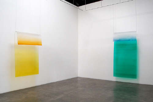 Artist: Craig Kauffman, Title: Installation view of Untitled, 1969 - click for larger image