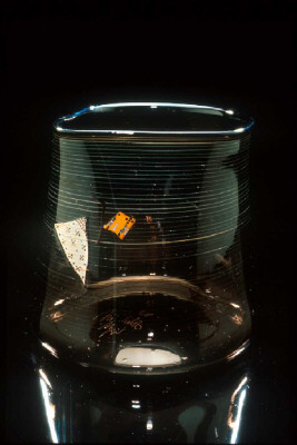 Artist: Dale Chihuly, Title: Dark Chocolate Cylinder with Shard Drawing, 1980 - click for larger image