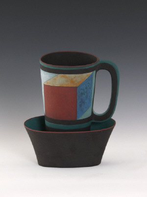 Artist: Elizabeth Fritsch, Title: Optical Cup and Saucer, 2002 - click for larger image