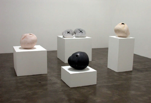 Artist: Gordon Baldwin, Title: Installation view, British Ceramics: Five Artists, 2003 - click for larger image