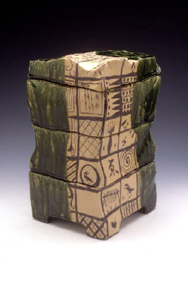 Artist: Goro Suzuki, Title: Oribe Stacked Boxes, 1999 - click for larger image