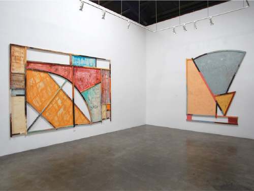 Artist: Craig Kauffman, Title: Installation view of Craig Kauffman: Constructed Paintings 1973 - 1976 - click for larger image