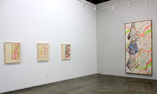 Artist: Craig Kauffman, Title: Installation view of Craig Kauffman: The Numbers Paintings from 1989 - click for larger image