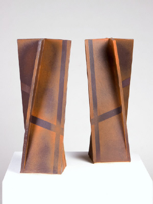 Artist: John Mason, Title: One Pair-Vertical Wraps with Tracers, 2008 - click for larger image