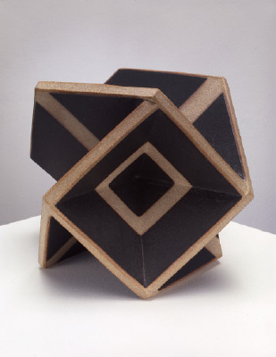 Artist: John Mason, Title: Square Hex 3, Black with Tracers, 2005 - click for larger image