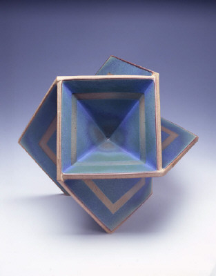 Artist: John Mason, Title: Trans Orb, Blue-Green with Tracers, 2006 - click for larger image