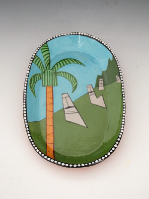 Artist: Ken Price, Title: Easter Island Plate, 1977 - click for larger image