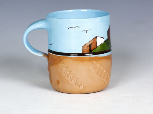 Artist: Ken Price, Title: Mexican Village Cup #3, c. 1972-77 - click for larger image
