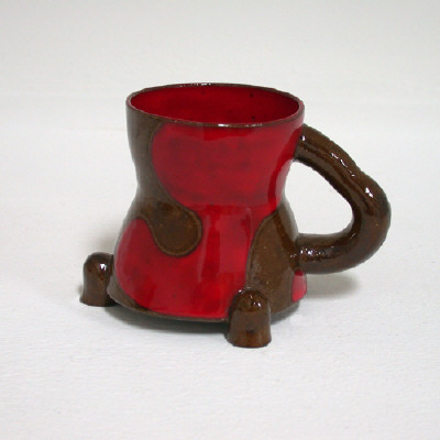 Artist: Ken Price, Title: Untitled (red & brown cup), 1989 - click for larger image