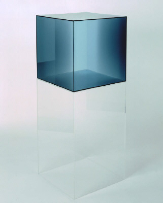 Artist: Larry Bell, Title: Cube #25, 2006 - click for larger image