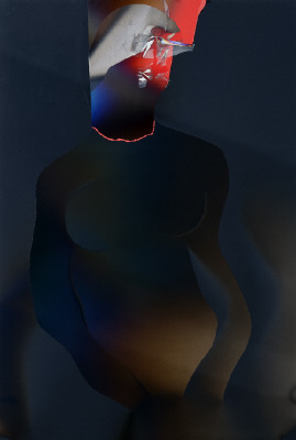 Artist: Larry Bell, Title: POJ #11 (Joan as Salomé), 2010 - click for larger image