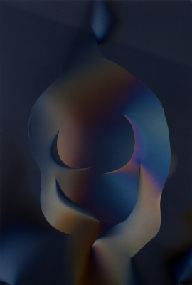 Artist: Larry Bell, Title: POJ #15 (Joan as the Odilesque), 2010 - click for larger image