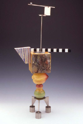 Artist: Peter Shire, Title: Mini Stack: Hammer'n Billy, 2004 - click for larger image