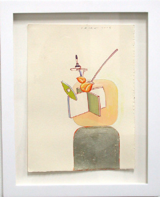 Artist: Peter Shire, Title: Peach Teapot Drawing, 2006 - click for larger image