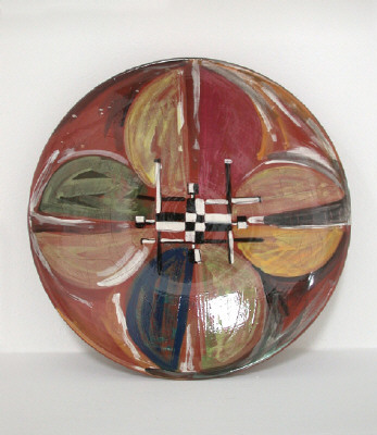Artist: Peter Shire, Title: Winged Victory Series Plate, 2000 - click for larger image