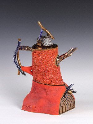 Artist: Ralph Bacerra, Title: Teapot, 1989 - click for larger image