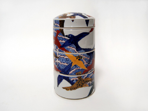 Artist: Ralph Bacerra, Title: Untitled Stacking Covered Vessel, N.D. - click for larger image