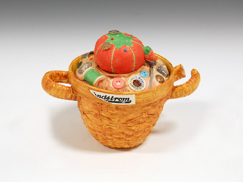 Artist: Richard Shaw, Title: Sewing Basket Teapot, 2005 - click for larger image
