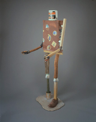 Artist: Richard Shaw, Title: Standing Figure with Wingtip, 2003 - click for larger image