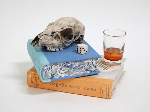 Artist: Richard Shaw, Title: Still Life with Skull and Glass, 2009 - click for larger image