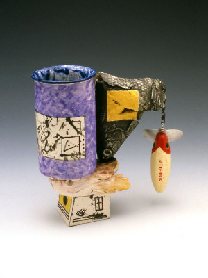 Artist: Robert Hudson, Title: Jitterbug Cup, 1973-98  - click for larger image
