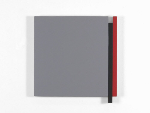 Artist: Scot Heywood, Title: Double Edge Gray, Black, Red, 2011 - click for larger image