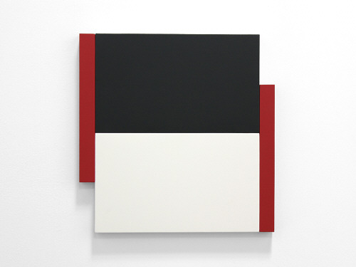 Artist: Scot Heywood, Title: Poles Black, White, Red, 2012 - click for larger image