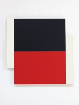 Artist: Scot Heywood, Title: Poles White, Black, Red, 2012 - click for larger image