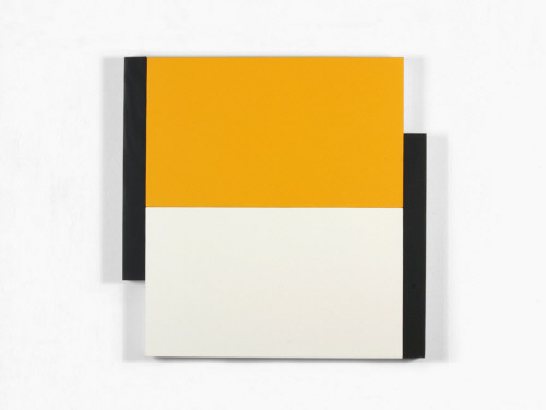 Artist: Scot Heywood, Title: Poles Yellow, White, Black, 2012 - click for larger image