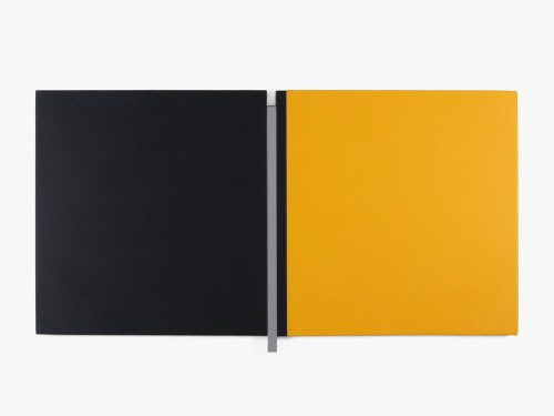 Artist: Scot Heywood, Title: Sunyata Black, Gray, Yellow, 2008 - click for larger image